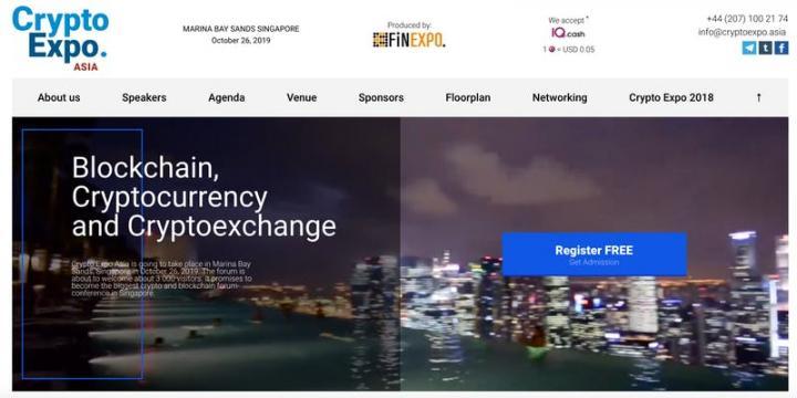 Crypto Expo Singapore 2019 (Financial Event)